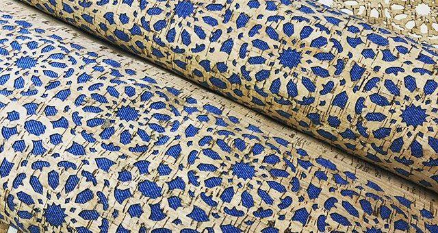 Neue Korkstoffe in trendigem Mandala Flower   Design #stoffladen #griesheim #darmstadt #kork #korkstoff
