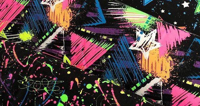 Wir lieben Neon!  (Es sind 3 verschieden Stoffe auf dem Bild)