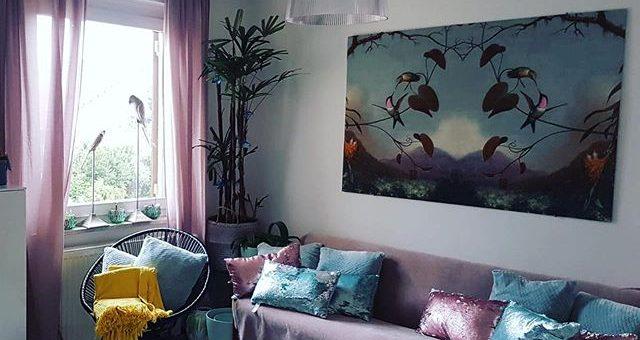 schöne Stoffe auch als Wandbilder dekorierbar – habt ihr auch schonmal Stoffbilder aufghängt?