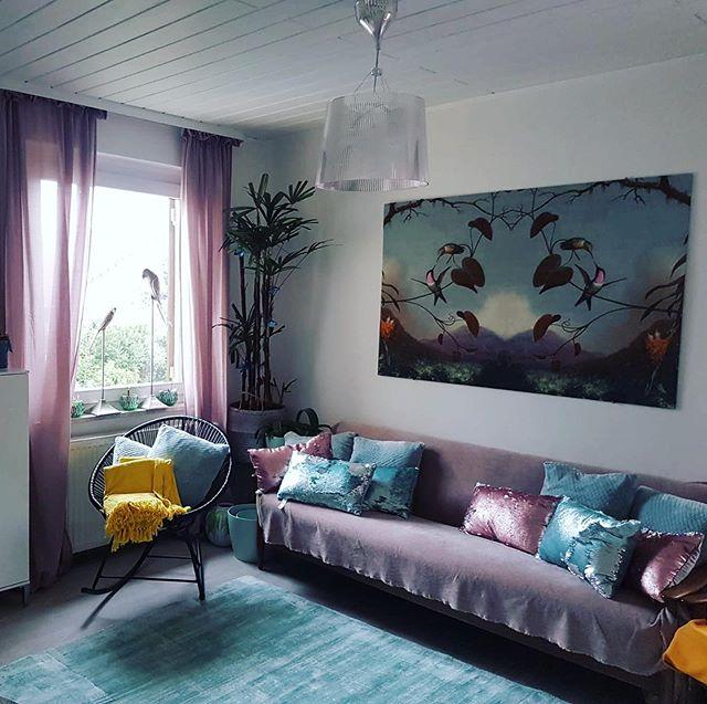 schöne Stoffe auch als Wandbilder dekorierbar - habt ihr auch schonmal Stoffbilder aufghängt?