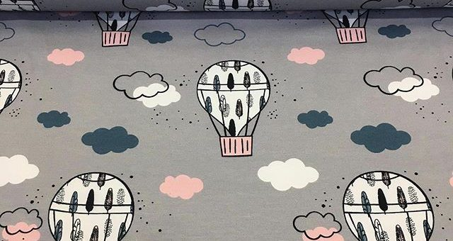 Lust mal abzuheben? Neue Jerseystoffe mit Heißluftballonmotive