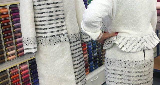Kaum zu fassen was aus diesem Chanel Stoff gezaubert wurde!  Habt ihr schonmal Chanel Stoffe vernäht?