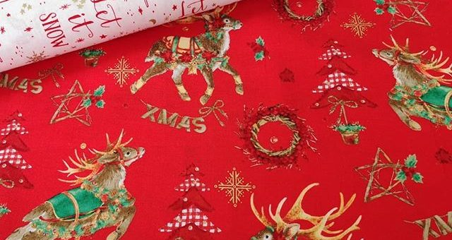 Mit großen Schritten geht's auf Weihnachten zu und wir haben tolle Baumwollstoffe für euch. 🤶☃️🦌Was näht ihr gern zu Weihnachten?