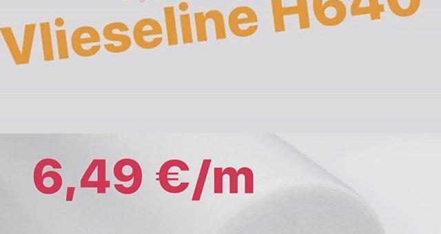 Ein tolles #Angebot erwartet euch ab Montag den 16. März in eurem #Stofflager. Für einen kurzen Zeitraum könnt ihr die #Vlieseline H640 zu einem Schnäppchenpreis für nur 6,49 €/m (UVP 11€) kaufen. Wir sind für euch da, wie gehabt von 10:00-18:00 Uhr und samstags 10:00-16:00 Uhr.